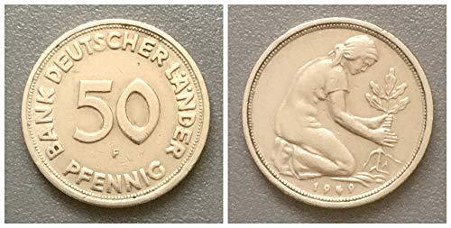 – Deutschland (1949) 50 Pfennig, Bank Deutscher Länder Prägezeichen F