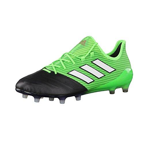 adidas Herren Ace 17.1 Leather Fg Fußballschuhe, Grün Verde Versol Ftwbla Negbas, 39 1/3
