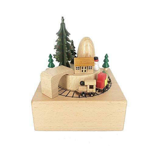 JIEJIE Caja de música de Navidad Caja de música de la montaña Rusa Caja de música Dar Novia del Regalo de cumpleaños for niños QIANGQIANG