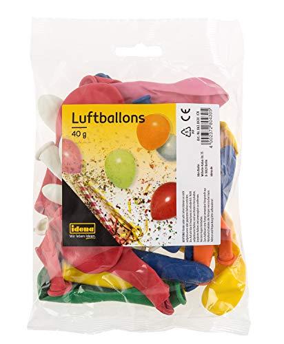 Idena 8630430 - Luftballons ca. 40 g, farbig gemischt, das fröhliche Deko-Highlight für jede Party im Haus und im Freien