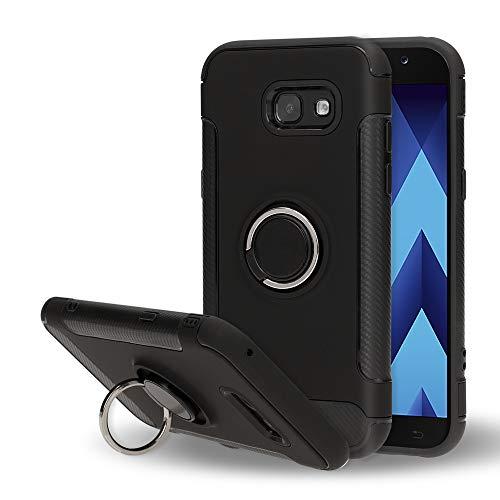 NALIA telefoonhoesje compatibel met Samsung Galaxy A5 2017, magnetische ring voor auto-voertuighouder met 360 graden vingerhouder, dunne beschermhoes cover hardcase met standaard, slim bumper
