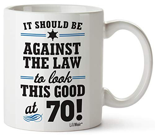 1950 70th Birthday Gifts Men Women   Birthday Gift for Man Woman turning 70   Funny 70 th Party Supplies Decorations Ideas   Seventy Year Old Bday Coffee Mug   70 Years Gag Office Cups Presents Mens