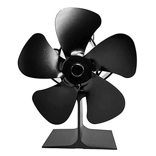 XRTJ Ventilador de Estufa Ventilador de Chimenea Actualización de Funcionamiento silencioso con función de protección contra sobrecalentamiento,2pcs