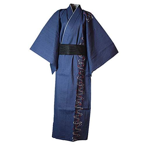 Hombres Japonés Yukata Japonés Kimono Bordado Túnica Pijama Vestir Vestido