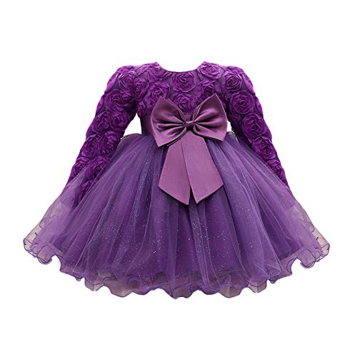 Newborn Infant Baby Girls Dress Outfits, Cute Lace Bowknot Flower...