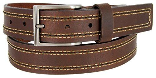 """Lejon Belt Boardwalk Full Grain Harness Leather Belt 1-3/8"""" Wide Brown Made in USA (38)"""