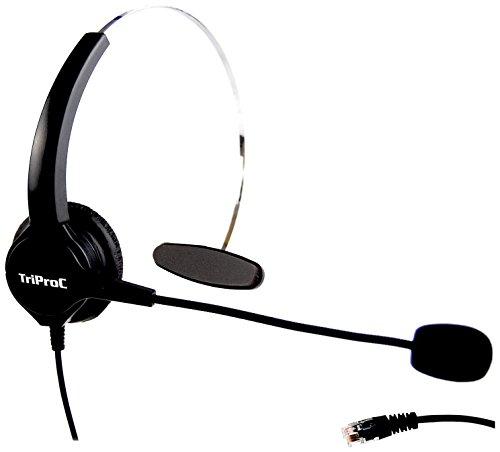ハンドフリー*コールセンター用ヘッドセット ノイズキャンセルマイク付き 電話機対応 業務用ヘッドセット (4ピンRJ9 片耳)