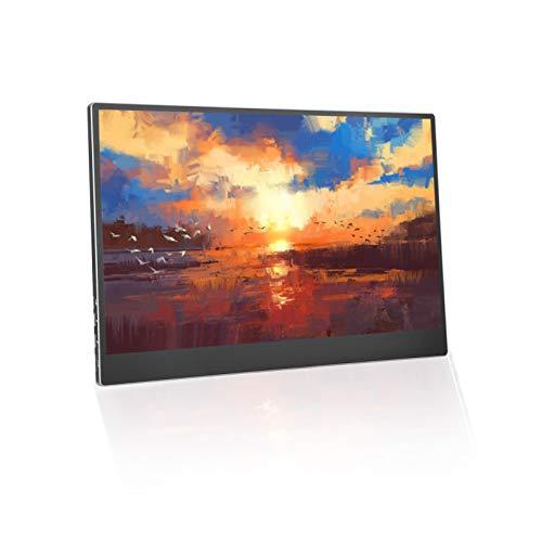 Ccylez Full HD 4K Monitor Touchscreen, kapazitives 10 Punkt Finger Touchscreen IPS Display, tragbarer Gaming Monitor 3840 x 2160 mit HiFi Lautsprecher, externes Display für PS4/Computer/Laptop(15,6