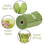 YORJA Dog Poo Bags,24 Rolls/360 Pooh Bags,Extra Thick and Strong,Leak Proof,Biodegradable Poop Bags for Dogs,Unscented Waste Bag 10