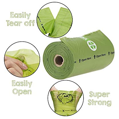 YORJA Dog Poo Bags,24 Rolls/360 Pooh Bags,Extra Thick and Strong,Leak Proof,Biodegradable Poop Bags for Dogs,Unscented Waste Bag 4