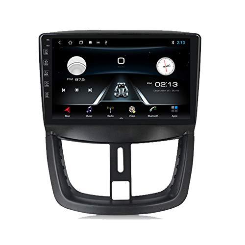 ADMLZQQ Autoradio Bluetooth 2 DIN Car Stereo per Peugeot 207 2006-2015 con HD Touchscreen Supporto Chiamata Vivavoce Bluetooth/FM/carplay(M300/PX6)+Telecamera Posteriore Inclusa,M100,1+16G