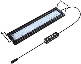Hygger Oświetlenie LED do akwarium, 9 W, lampa LED z timerem, możliwość przyciemniania, światło LED do akwarium z regulowa...