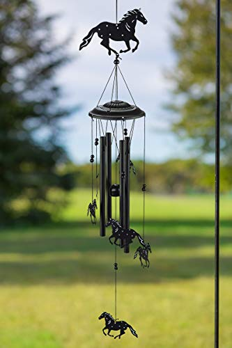 VP Home Wild Horses Unique Outdoor Western Decor Wind Chime