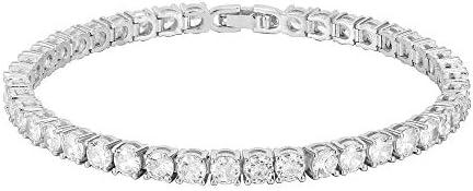 PAVOI 14K Gold Plated Cubic Zirconia Classic Tennis Bracelet White Gold Bracelets for Women product image