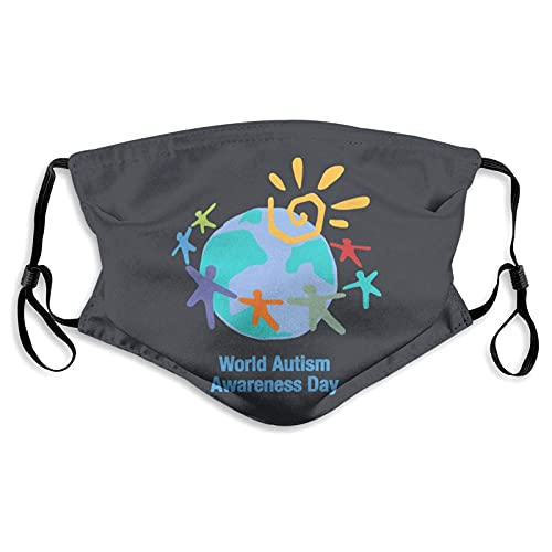 Autismo Awareness Deporte Mascarilla Roja Brillo Labios Throw Almohada Sun-Proof Moda Bandana...