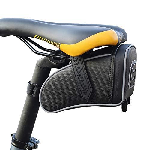 Shakala Bolsa de sillín para bicicleta, bolsa de sillín para equitación de carretera, equipamiento de ciclismo