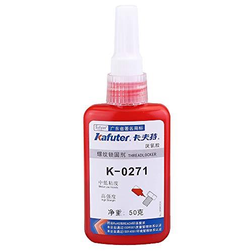 HELEISH Kafuter K-0271 Tornillo Pegamento Rosca de bloqueo Adhesivo anaeróbico Medio Sellador de roscas Piezas de montaje de bricolaje