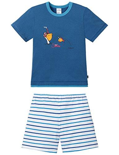 Schiesser Jungen Zweiteiliger Schlafanzug Kn Kurz Nici, Gr. 128, Blau (blau 800)