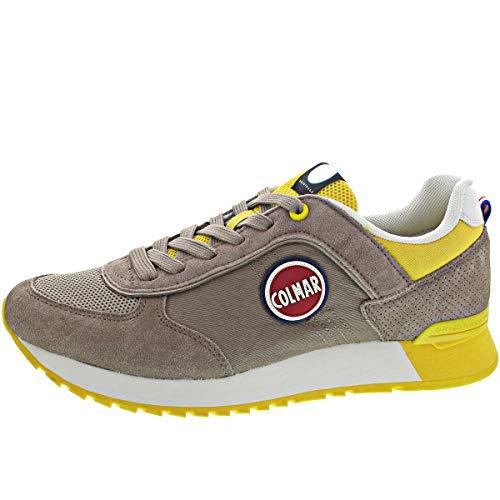 Colmar Travis Colors 006, Sneakers da Uomo, Warm/Gray/Yellow, 42 EU