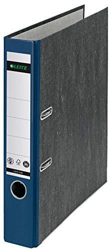 Leitz Qualitäts-Ordner, A4, klimaneutral, 52 mm Rückenbreite, blauer Rücken, Wolkenmarmor-Papier, 10505035