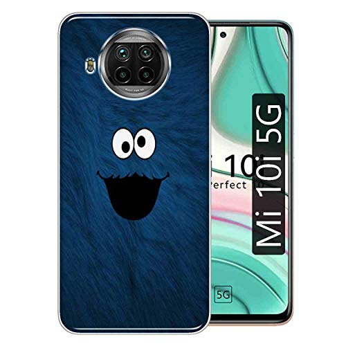Gismo Designer Printed Soft Silicone Pouch Back Case Mobile Cover for Xiaomi Mi 10i 5G / for Boys and Girls -B124