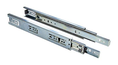 Schubladenschiene Schrank-Kugelauszug Teleskop-Schiene Schubladen Vollauszug 500 mm - KTS | Stahl verzinkt | Tragkraft 30 kg | Teleskopauszug kugelgelagert | 1 Paar - Auszüge für Küchenschränke