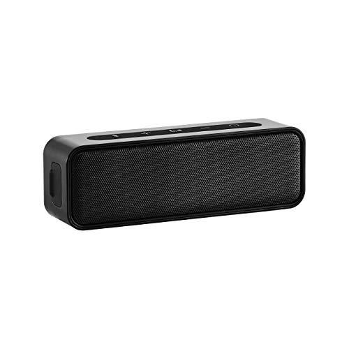 AmazonBasics – Bluetooth-Stereo-Lautsprecher mit wasserabweisendem Design, 9 W, Schwarz