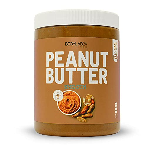 Bodylab24 100% Peanut Butter 1000g, Erdnussbutter ohne Zusatzstoffe, Smooth