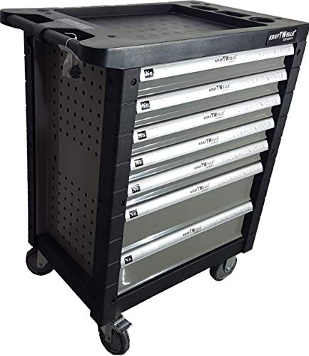 Werkzeugwagen Werkstattwagen 7 Schubladen gefüllt mit Werkzeugen – Rollwagen mit Räder und...