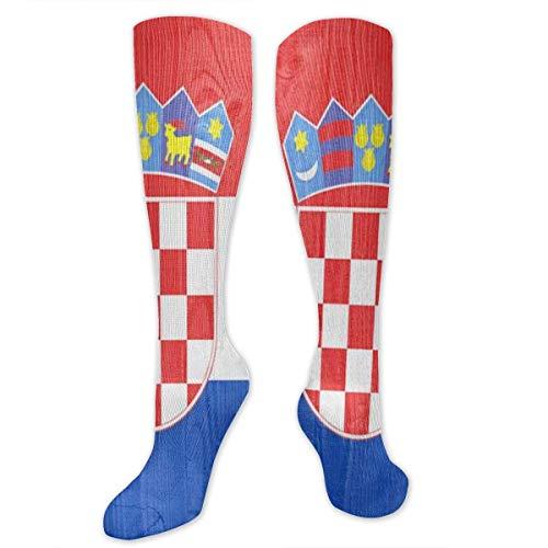 NA Kompressionsstrümpfe mit Kroatien-Flagge für Damen und Herren, beste medizinische Socken für Reisen, Laufen und Fitness