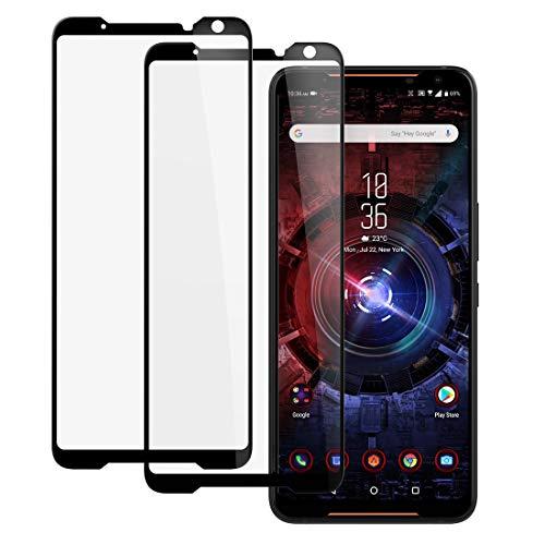 CRESEE ROG Phone 2 Panzerglas Folie Schutzfolie Blasenfrei HD Glas 9H Panzerglasfolie Hartglas Bildschirmschutzfolie für ASUS ROG Phone II (ZS660KL) Gaming Phone 2019 (2 Pack)