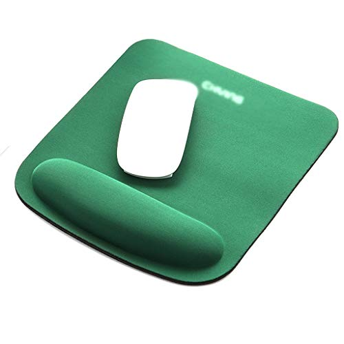 Soporte de muñeca Gel Mouse Pad Cómodo computadora alfombrilla de ratón para computadora portátil, alivio de dolor Mousepad con base de PU antideslizante para oficina de oficina [rectángulo]