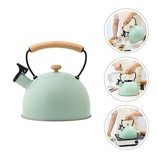 Hervidor de Agua Tradicional con Silbato Hervidor de té de Acero Inoxidable El Mejor hervidor de Acero Inoxidable Moderno Hogar Cocina Camping