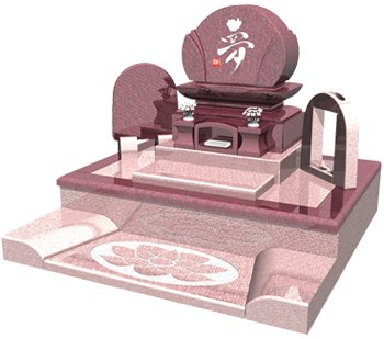 良心石材 お墓 墓石 洋型デザイン 【花音(かのん)】 余裕のある容量の納骨堂 花立 線香置き 装備
