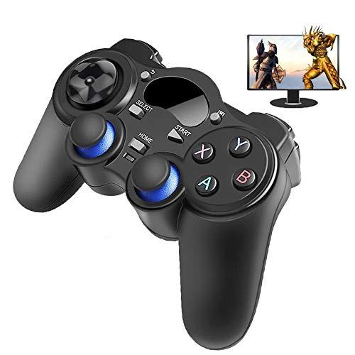 QAZ 2.4 Gコントローラーゲームパッドアンドロイドワイヤレスジョイスティックジョイパッド付きOTGコンバータのPS3 /スマートフォン用タブレットPCスマートテレビボックス
