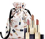 Estee Lauder for Sculpted Lips Trio Lipsticks Gift Set 3 Full Sizes 410 Dynamic, 110 Insatiable Ivory, and 221 Pink Parfait