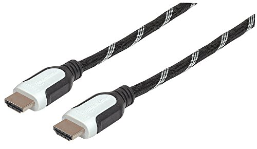 Manhattan 354776Cable HDMI de Alta Velocidad con Ethernet Canal Forrado en Tela,...