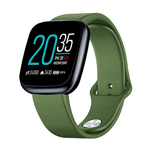 Absir Zeblaze Crystal 3 Smartwatch WR IP67 Heart Rate Blood Pressure Long Battery Life IPS Color Display Smart Watch Pine green