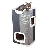 Trixie Jorge Cat Tower, 78 cm Diameter, Light Grey/Anthracite