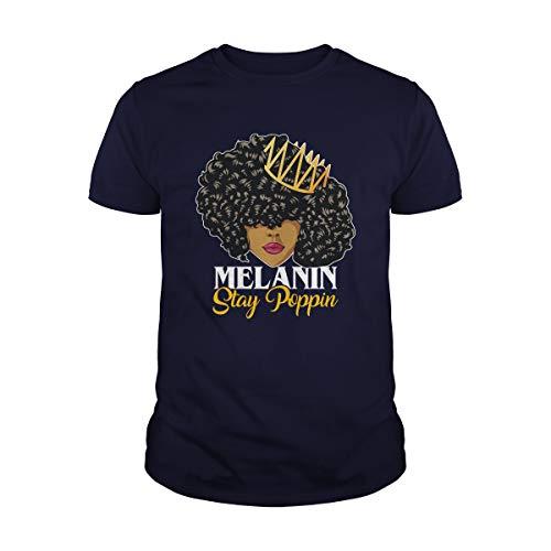 Uzubunki Black Queen Melanin Stay Poppin, Black Girl Magic, Black Women Strong, Afro Queen, Melanin, Afro Women T-Shirt