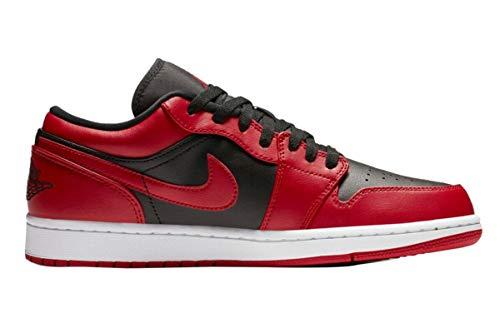 Nike Air Jordan 1 Low, Zapatillas de bsquetbol Hombre, Gym Red Black White, 44.5 EU