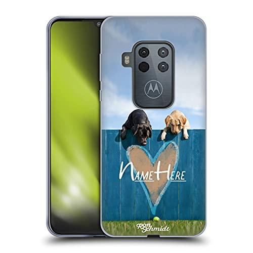 Head Case Designs Licenza Ufficiale Personalizzata Personale Ron Schmidt Fuori dal Parco Arte Cane Cover in Morbido Gel Compatibile con Motorola One Zoom