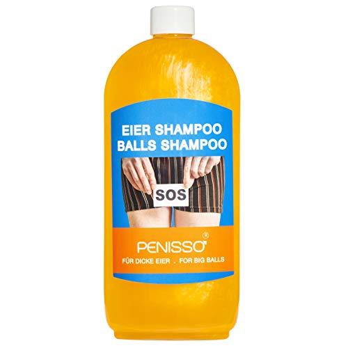 Penisso Eier Shampoo für dicke Eier I Scherzartikel für Erwachsene, ideal für Junggesellenabschied & als ausgefallenes Geschenk für Männer I Waschlotion für den Intimbereich I Made in Germany I 500 ml