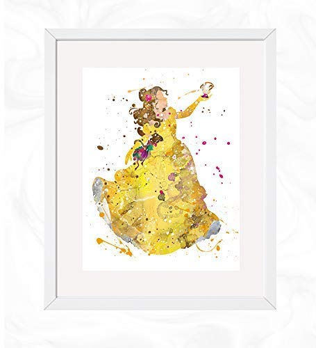 love doesnt Poster Print Watercolor decor 1 Disney Beauty and The Beast