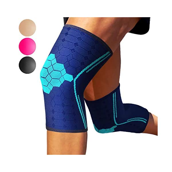 Sparthos Knee Compression Sleeves by (Pair) – Joint Protection and Support for...
