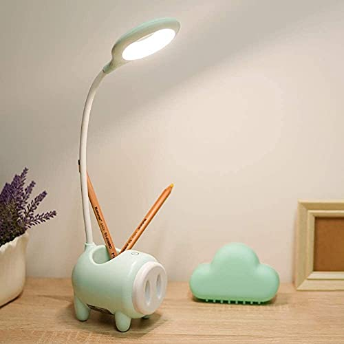 REOOHOUSE Lámpara de Escritorio LED Recargable protección Ocular Dormitorio de Estudiantes Dormitorio de Dibujos Animados lámpara de Escritorio de Lectura Junto a la Cama