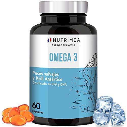 Omega 3 Aceite de Pescado Krill 1000 mg 4 Veces Potente DHA EPA Acidos...