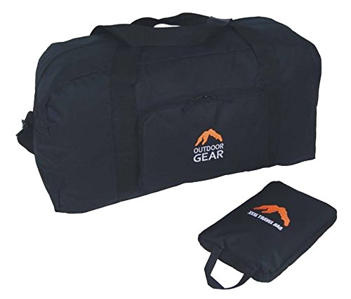 Extra Large Strong Black Holdall Travel Bag XXXL Size Folds Small Opens Big 60 Litre Capacity