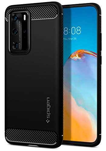 Spigen Rugged Armor Works with Huawei P40 Pro Case (2020) - Matte Black