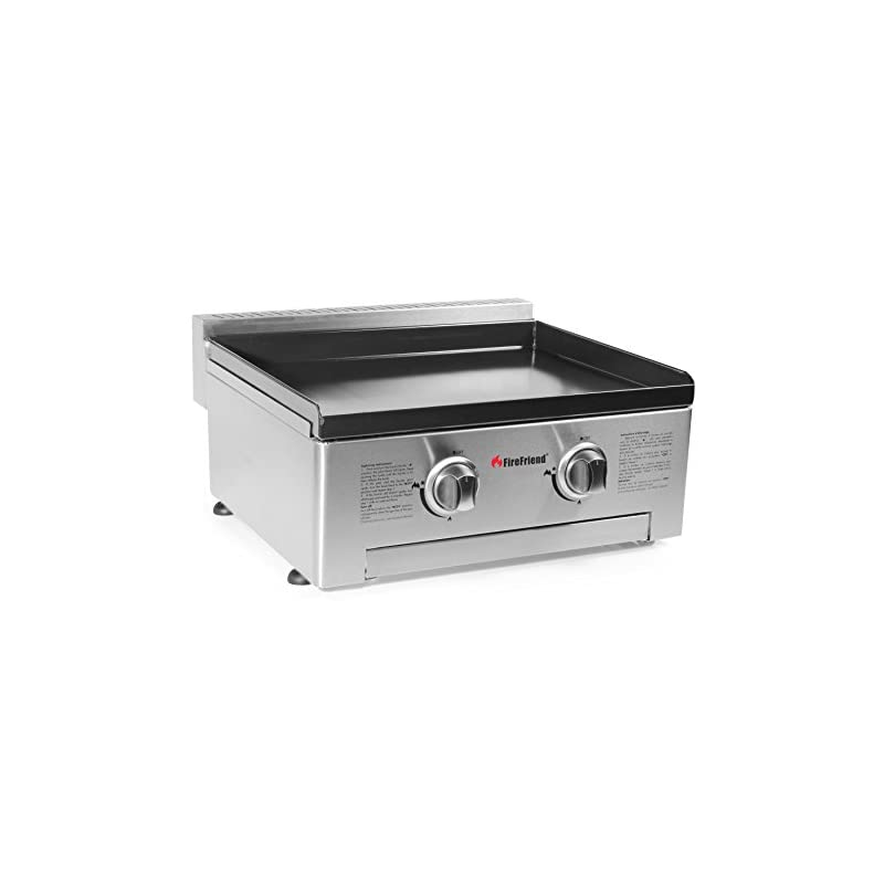 Campart BQ-6394 Gas Baking Plate, BBQ, Plancha, Silver, Two Burners